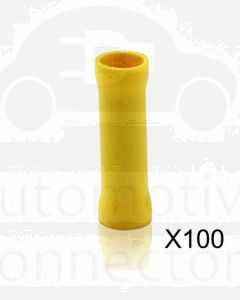 Quikcrimp QKC49 Yellow Butt Splice Pre-Insulated Pack of 100