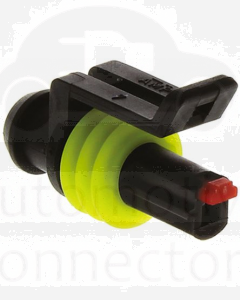 TE Connectivity 282079-1 AMP SUPERSEAL 1.5 Plug, 1 Row, 1 Way Connector Housing (Pack of 10)