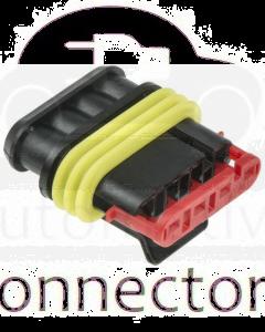 TE Connectivity 282088-1 AMP SUPERSEAL 1.5 Plug, 1 Row, 4 Way (bag of 10)