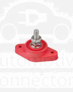 "Bussmann JB7713R Red 240A Single 3/8"" Stud - Stainless Steel Junction Block"