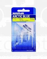 Narva 17189BL2 Premium Wedge Globe 12V 5W Amber T-10mm W2.1 x 9.5d Arctic Blue Blister (2)