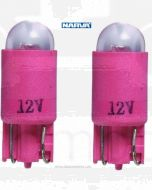 Narva L.E.D Wedge Globes (2) - Red, 12v T-10mm KW2.1 x 9.5d