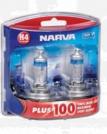 Narva 48342BL2 Halogen H4 Globe 12V 60/55W Plus 100 P43t (Blister Pack of 2)