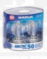 Narva 48677BL2 Halogen H4 Globe 12V 60/55W Arctic Plus 50 P43t (Blister Pack of 2)