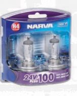 Narva 48874BL2 Narva 48874BL Halogen H4 Globe 24V 75/70W 24V Plus 100 Long Life P43t (Blister Pack of 2)