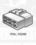 Narva 56266 6 Way Quick Connector Housing with Terminals - Male (Pack of 10)