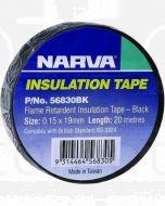 Narva 56830BK Flame Retardant Insulation Tape - Black