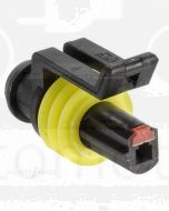 Narva 57511 1 way Waterproof AMP Connector - Male (Pack of 10)