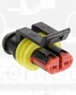 Narva 57512 2 way Waterproof Connector with Terminals and Seals - Male (Pack of 10)