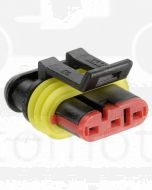 Narva 57513 3 way Waterproof AMP Connector - Male (Pack of 10)