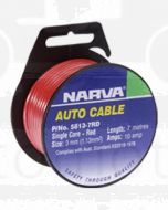Narva 5823-4F8 3mm Red and Black Tracer 2 Core Cable - 4m Roll