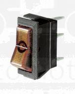 Narva 62015BL SPST Illuminated Off/On Rocker Switch (Amber)