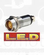 Narva 62090BL 12 Volt Chrome Pilot Lamp with Amber L.E.D