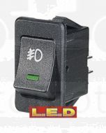 Narva 63027BL Off/On Rocker Switch with Green L.E.D and Front Fog Symbol