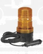 Narva 85337A Single Flash Strobe Light (Amber) with Magnetic Base, Cigarette Lighter Plug and 2.5m Spiral Lead