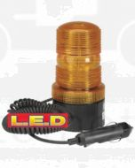 Narva 85375A L.E.D Quad Flash Strobe Light (Amber) with Magnetic Base, Cigarette Lighter Plug and 2.5m Spiral Lead