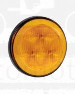 Narva 94300 9-33 Volt L.E.D Rear Direction Indicator Lamp (Amber) with 0.5m Hard-Wired Sheathed Cable and Black Base