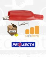 Projecta Red Insulated Alligator Clips (50)