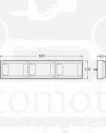 Hella 2416LED Jumbo Triple LED Combination Lamp with Inbuilt Retro Reflector