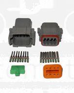 Deutsch DT8-3 8 Way Connector Kit with Nickel Contacts