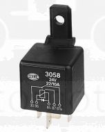 Hella 3058 Change-Over Relay with Diode - 5 Pin, 24V DC