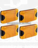 Hella 2151BULK Pack of 4 DuraLed Amber Rear Direction Indicator