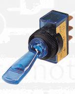 Hella Off-On Toggle Switch - Blue Illuminated, 12V (4436)