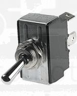 Hella (On)-Off-(On) Toggle Switch - Spring Return, Chrome Plated (4461)