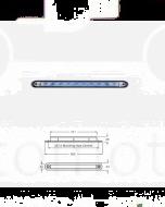 Hella GenII Wide Rim Strip LED - Blue Illuminated, 24V DC (95907365)