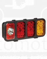 Narva 94664 10-30 Volt L.E.D Module with Reverse, Rear Twin Stop / Tail and Direction Indicator Lamps (LH) with Inbuilt Retro Reflector