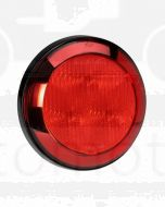 Narva 94306-12 12 Volt L.E.D Rear Stop/Tail Lamp (Red) with Chrome Ring, 0.3m Hard-Wired Non-Sheathed Cable and Black Base